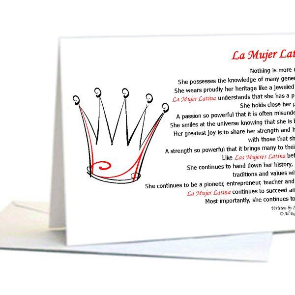 Yo soy expressions la mujer latina series la mujer latina poem spanish bilingual latina empowerment cards m4hsunfo