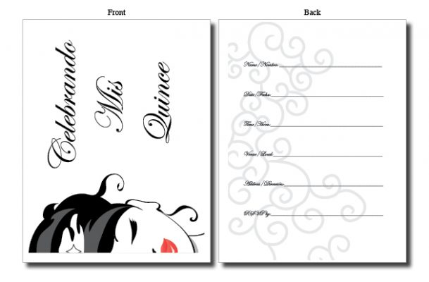 quinceanera invitations quinces cards bilingual spanish