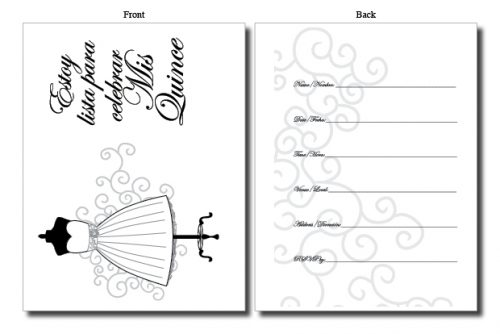 quinceanera invitations quinces cards bilingual spanish